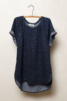 Ikat Chambray Tee #anthropologie