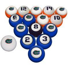 Florida Gators Billiard Pool Ball Set