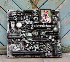 Scrapbooking by Nastya M: Все таки участвую) MIXED MEDIA COURAGE. 2 этап  #mixed-media