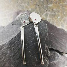 Ruby wedding anniversary earrings with pretty pink rubies Ruby Wedding Anniversary, Pretty In Pink, Cufflinks, Handmade Jewelry, Jewelry Making, Jewellery, Earrings, Accessories, Ear Rings