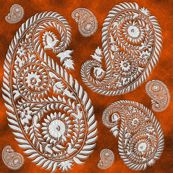 paisley-rust - krs_expressions - Spoonflower fabric