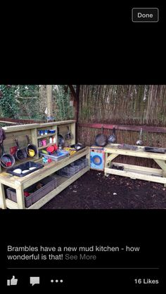 Mud kitchen - made from pallets?