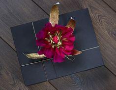 Crepe paper flower gift wrap