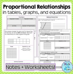 Worksheets Proportional Relationships Worksheets Christmas equation student and love this on pinterest proportional relationships tables graphs equations notespractice 7 rp 2