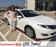 https://flic.kr/p/N5fimu | Happy Anniversary to Morgan on your #Lincoln #MKZ from JERRY TONUBBEE at Southwest Kia Mesquite! | deliverymaxx.com/DealerReviews.aspx?DealerCode=VNDX