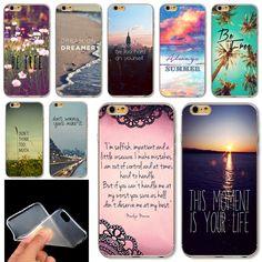 Poetic For Apple  iPhone 6 6S 5 5S 4 4S 5C  Soft Silicon Phone Case City Sea European Scenery