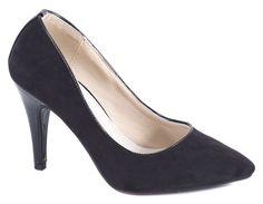 Pantofi cu toc - Pantofi negri cu toc 135-8N - Zibra