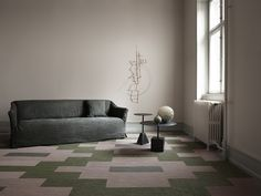 Rectangles from Bolon in Botanic and Artisan. Green And Grey, Artisan, Flooring, Traditional, Collections, Modern, Home Decor, Trendy Tree, Hardwood Floor