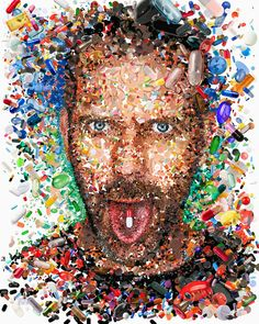 """Dr. House"" Editorial Illustrations 2011-2012 by Charis Tsevis, via Behance"
