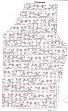 Crochet Summer Clothes Patterns Charts 37 New Ideas Granny Square Häkelanleitung, Granny Square Crochet Pattern, Crochet Diagram, Crochet Stitches, Knit Crochet, Crochet Baby Hats, Crochet Clothes, Crochet Short Dresses, Knitting Patterns