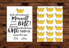 Where The Wild Things Are Birthday Party Invitation. King of All Wild Things Invitation by BeHereNowDesign on Etsy https://www.etsy.com/listing/454338992/where-the-wild-things-are-birthday-party