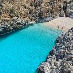 Seitan Limania beach, Chania, Crete, Greece