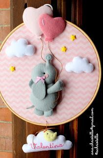 Baby Shower Deco, Unisex Baby Shower, Baby Dumbo, Baby Mobile Felt, Felt Kids, Do It Yourself Baby, Crochet Doll Pattern, Crochet Dolls, Baby Box