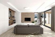 Príjemná drevo-biela kombinácia v obývacom priestore Divider, Indoor, Room, Furniture, Google, Design, Home Decor, Interior, Bedroom