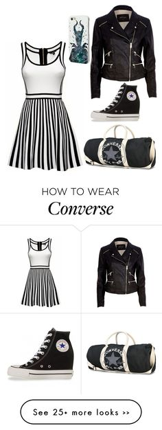 """Untitled #164"" by darkc0mplex on Polyvore featuring River Island, Converse and Disney"
