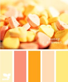 sunny   our downstairs bathroom is yellow - but these peach and orange accents would be phenom :)