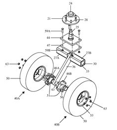 10 best swivel wheel trailerz images 5th wheels c ers c er  patent us7832745 single caster wheel assembly for trailer towable at high speeds patents