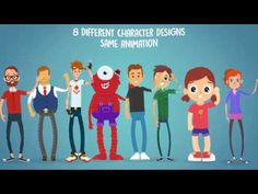 After Effects Template - Rigmo - Rigged Character Animation Mockup on Vimeo Character Rigging, 2d Character, Character Design, After Effects Projects, After Effects Templates, Animation, Cover Template, Photoshop Design, Motion Graphics