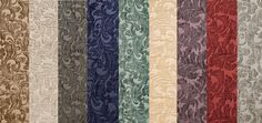 """Upholstery Chenille floral Shelby Drapery home fabric the yard 56"""" Wide 9 COLORS #luv"""