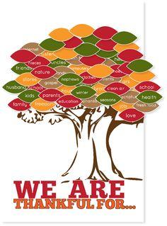 FREE printable thankful tree at kiki and company. #thanksgiving