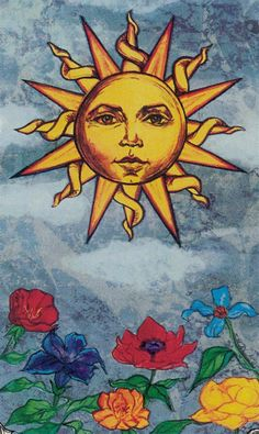 XIX. The Sun - Hudes Tarot by Susan Hudes