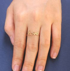 Name Ring # Personalized Name Ring by Bestyle Jewelry