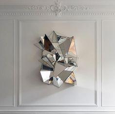 muitifaceted Froissé mirror by Paris based designer Mathias Kiss
