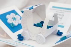 Baby Shower card/invitation  Exploding box by PaperParadisePL, zł45.00