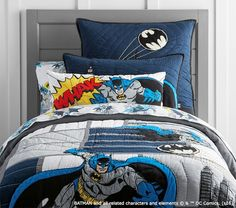 BATMAN™ Cityscape Quilted Bedding | Pottery Barn Kids