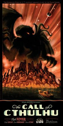 """One Sheet for """"The Call of Cthulhu"""" silent movie"""