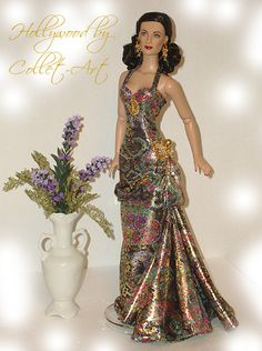 "16"" TONNER TYLER WENTWORTH JOAN CRAWFORD OOAK GOWN DRESS ""HOLLYWOOD"" 