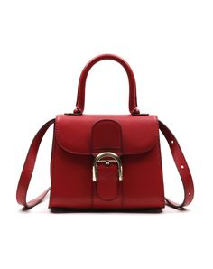 #AdoreWe agebel Red Cow Leather Vintage Saddle Bag Tote - AdoreWe.com