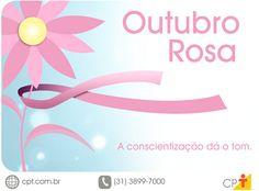 Torne o seu outubro rosa na luta contra o câncer de mama! #cursoscpt #outubrorosa