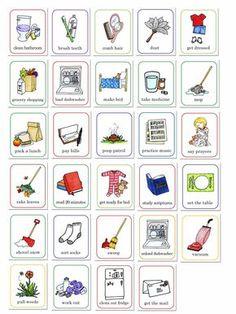 susan fitch design: job chart illustrations | for behavior or chore chart