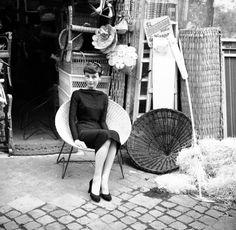 audrey hepburn in rome, may 1955