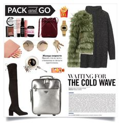 """""""Pack and Go: Winter Getaway"""" by sarahemm ❤ liked on Polyvore featuring Toast, Stuart Weitzman, Alice + Olivia, Prada, NYX, Mansur Gavriel and Casio"""