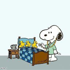 Acho que tem alguém doente??!! #snoopy #woodstock #sick #peanuts