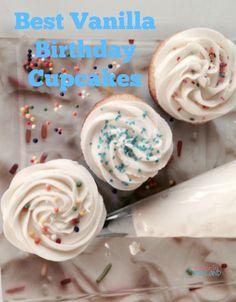A Day In Candiland | Best Vanilla Birthday Cupcakes | http://adayincandiland.com