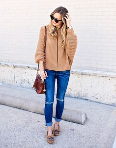 Slouchy Sweater & Moccasins // Livvyland