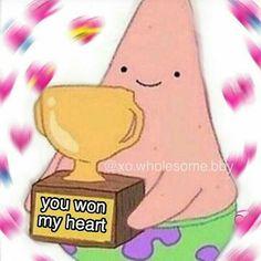 ✔ Memes Love And Affection Spongebob Stupid Funny Memes, Funny Relatable Memes, Funny Cartoon Memes, Funny Humor, Diy Sharpie, Memes Spongebob, Memes Amor, Memes Lindos, Heart Meme