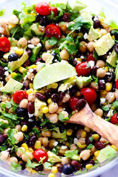 Southwest Chickpea Salad --swap out chickpeas for any kind of bean