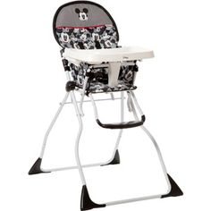 Disney Flat Fold Deluxe High Chair, Classic Mickey