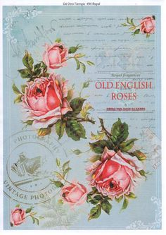 Decoupage three ways – what types of paper can be used? Vintage Diy, Vintage Rosen, Images Vintage, Decoupage Vintage, Vintage Crafts, Vintage Labels, Vintage Paper, Old English Roses, Rose Clipart