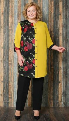 Plus Size Womens Clothing, Plus Size Outfits, Plus Size Fashion, Knitted Jackets Women, Mode Kimono, Shadi Dresses, Dress Outfits, Fashion Outfits, Girl Dress Patterns