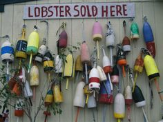 size: Photographic Print: Colorful Lobster Buoys Hang on a New England Shed by Stephen St. Framed Artwork, Wall Art Prints, Poster Prints, Framed Canvas, Ship Figurehead, Lobster Shack, Frames For Canvas Paintings, Affordable Wall Art, Cool Posters