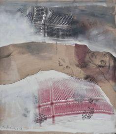 """Saatchi Art Artist Bahram Hajou; Painting, """"Liegende Frau """" #art"""