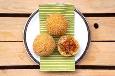 """ARANCINI di FARRO INTEGRALE /   ITALIAN """"ARANCINI"""" (deep fried spelt-balls)"""