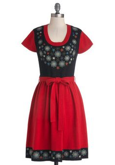 Always Adorable Dress, #ModCloth this would be a cute festival dress, it's sorta reminds me of a dirndl because of the apron look to the front