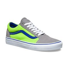 fefe5ae7e83ac6 Shop Women s Vans Blue Green size Shoes at a discounted price at Poshmark.  Description  Vans Old Skool (Brite) Frost Gray Neon Green.