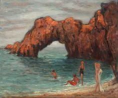 Plajă la Biarritz - KIMON LOGHI (1873, Serres, Macedonia - 1952, Bucureşti)